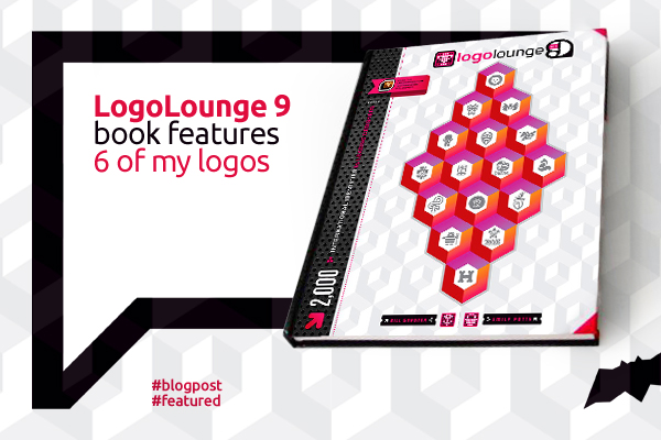 LogoLounge 9 book features 6 of my logo designs