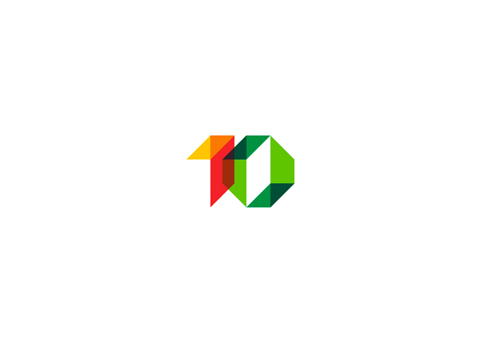 10 1 0 1 o geometric numbers logo design symbol by alex tass