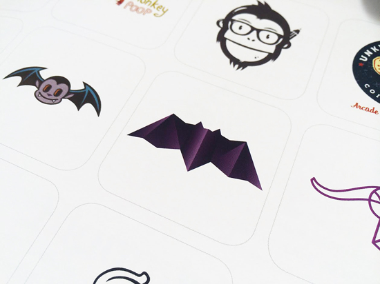 Alex Tass bat logo design symbol featured in LogoLounge 9 Logo Lounge book detail