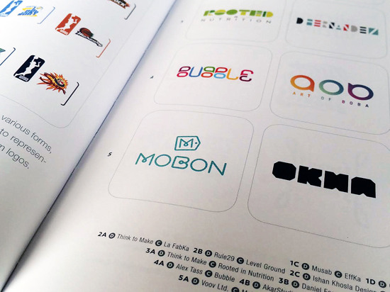 Bubble logo design by Alex Tass featured in LogoLounge 9 Logo Lounge book
