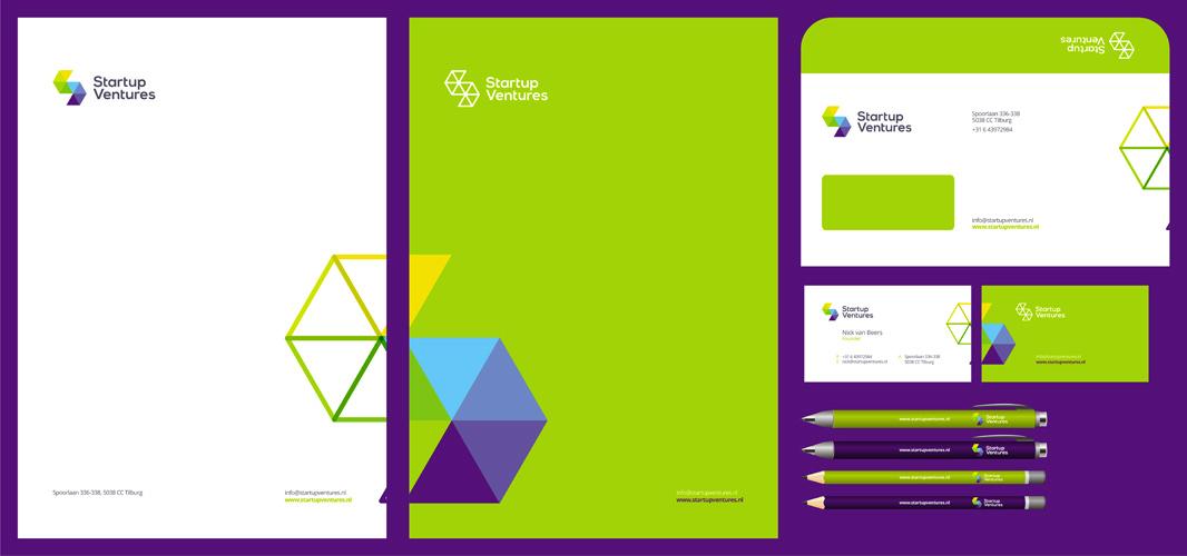 Start up Ventures startups logo stationery design