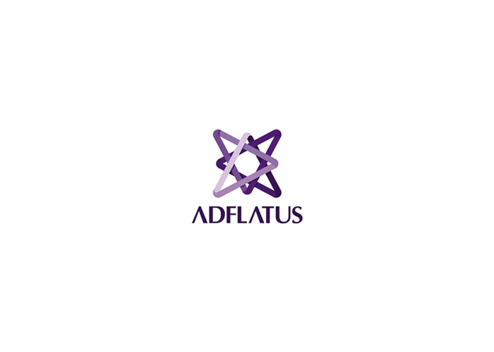 adflatus interior design company logo design by alex tass