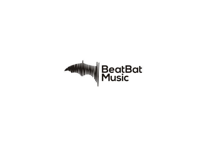 beat bat music logo design by alex tass