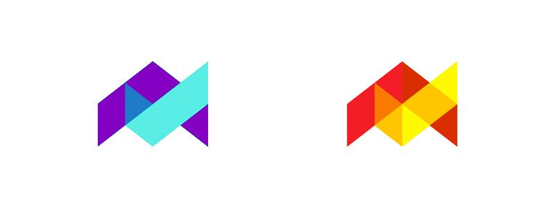 Logo design symbol for a digital project focused on tasks management: letter A and a check mark.