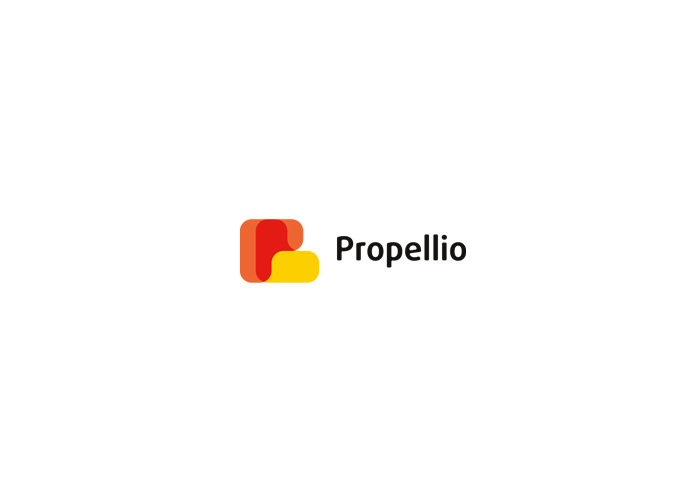 p propeller propellio limited real estate logo design by alex tass