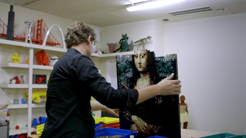 Nathan Sawaya LEGO art Mona Lisa