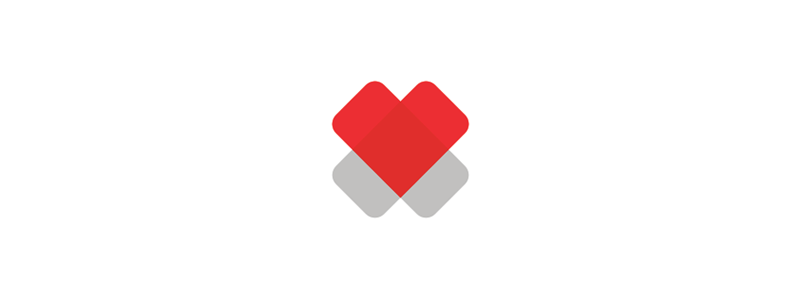 2 Hearts, cross, medical foundation logo design symbol by Alex Tass