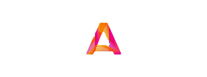 A, blends, mobile apps developer, letter mark logo design symbol mark icon by Alex Tass