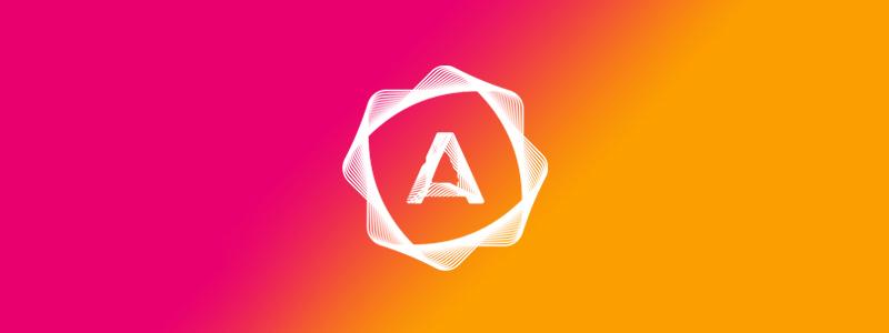 A, blends, wax seal, mobile apps developer logo design symbol mark icon by Alex Tass