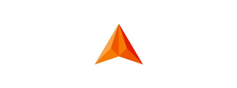 A letter mark, abstract geometric construction, arrow, triangles, logo design symbol mark icon by Alex Tass