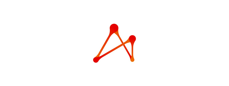 A letter mark, dots, paths, connections, logo design symbol mark icon by Alex Tass