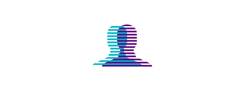 Clones, social network logo design symbol mark icon by Alex Tass
