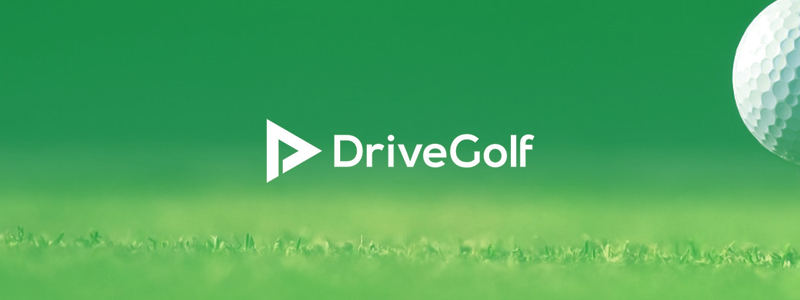 Drive Golf, learning triangle, negative space flag, logo design by Alex Tass