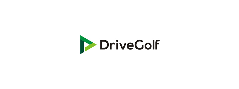 DriveGolf, learning triangle, D letter mark, golf flag in negative space, logo design by Alex Tass