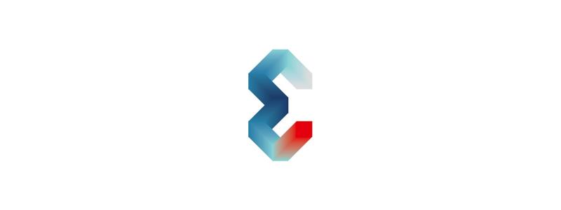 E letter mark, logo design for events parties organizer by Alex Tass