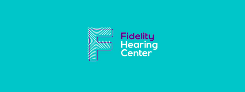 Fidelity hearing center, F letter mark, logo design by Alex Tass