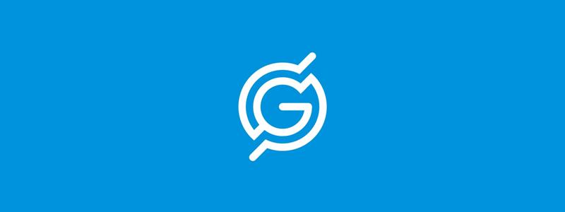 GS monogram globe scanning radar, logo design symbol mark icon by Alex Tass