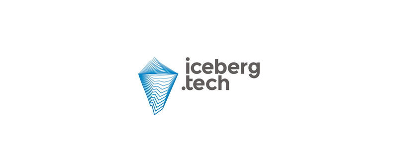 Iceberg Tech, hub for several Internet and tech companies logo design by Alex Tass