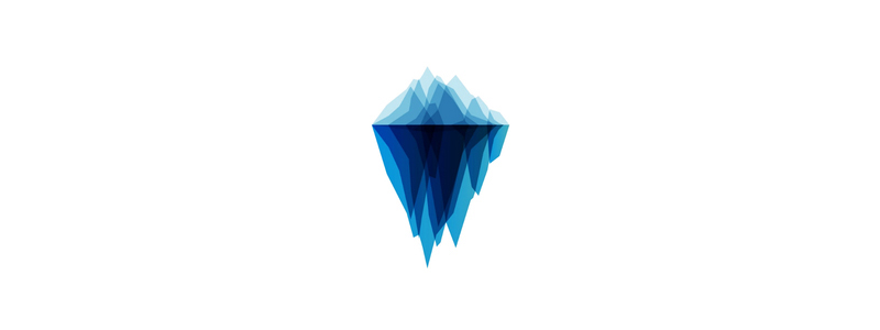 Iceberg, geometric illustration, logo design symbol by Alex Tass