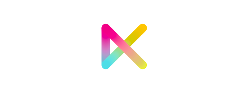 K, colorful letter mark logo design symbol mark icon by Alex Tass