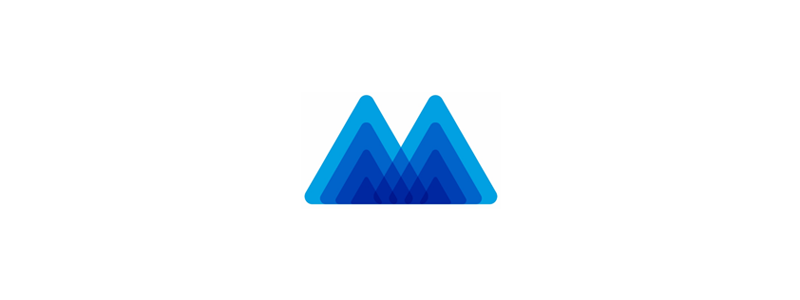 Letter M, Mountain, Mindfulness, letter mark logo design symbol icon by Alex Tass