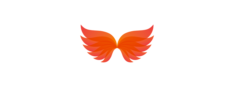 Phoenix wings logo design symbol by Alex Tass