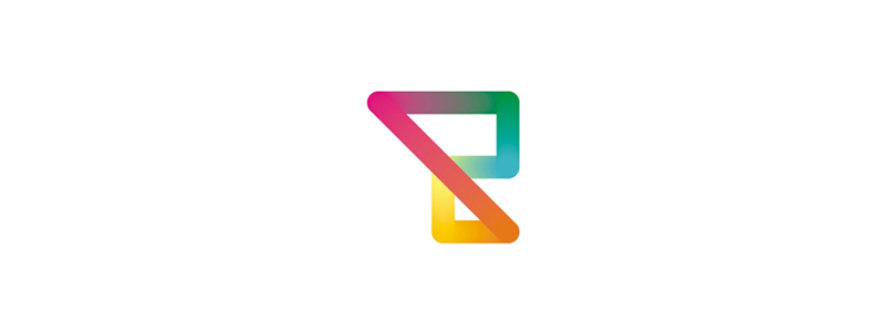 R letter mark colorful dynamic logo design symbol mark icon by Alex Tass