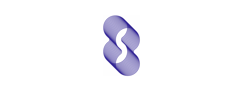 S in negative space, infinity shapes, blends, letter mark, logo design symbol mark icon by Alex Tass