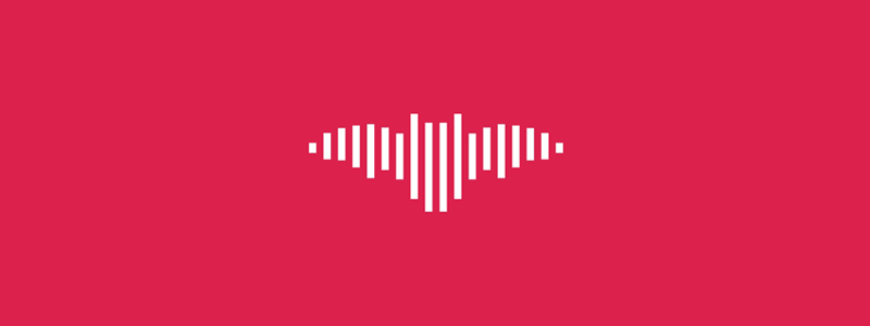 Sound wave + bat, music logo design symbol by Alex Tass