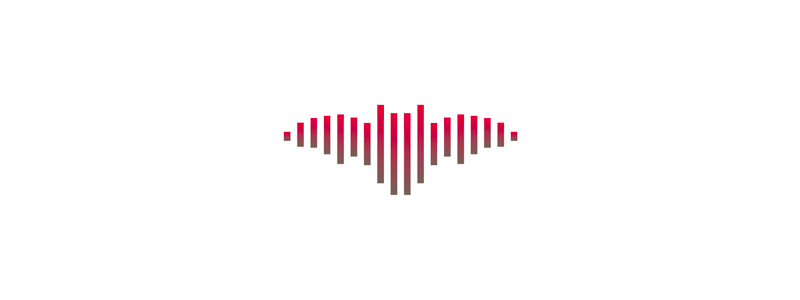 Sound wave + bat music logo design symbol by Alex Tass