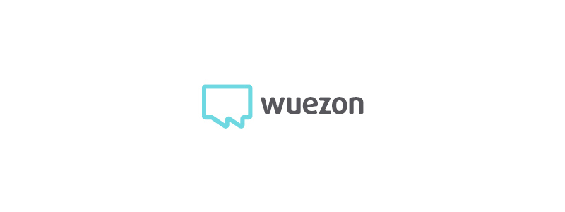 W letter, chat bubbles, user-friendly service, logo design by Alex Tass
