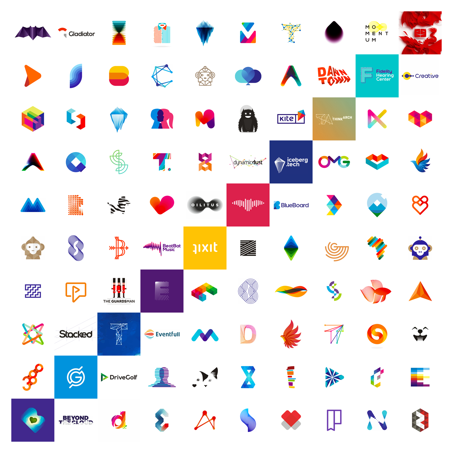 10 years 100 logo designs by Alex Tass