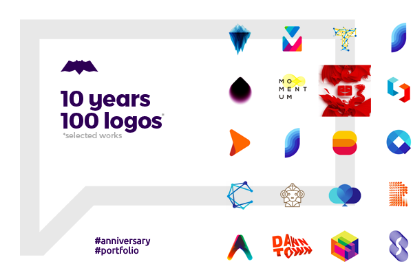 10 years, 100 logo design projects by Alex Tass