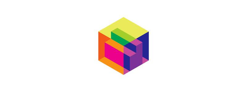 Letter d in cube 3d scanner architecture logo design symbol by Alex Tass