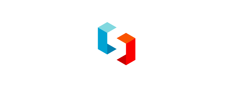 S in negative space logo design symbol by Alex Tass