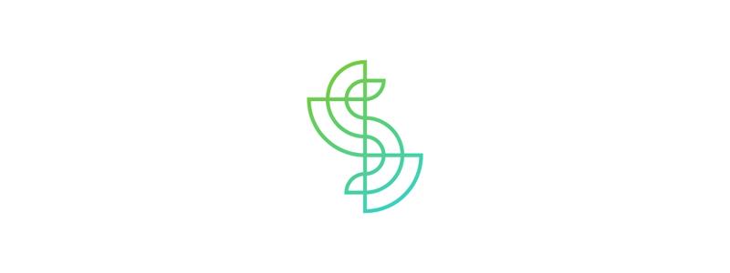 S line art letter mark logo design symbol by Alex Tass