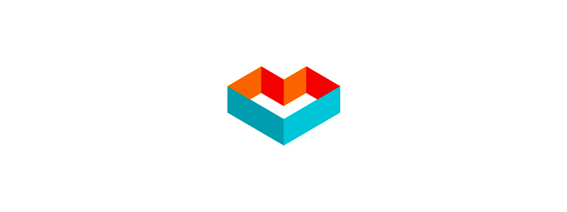 ML m l heart geometric monogram logo design symbol by Alex Tass
