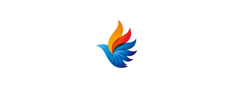 Phoeninca phoenix bird logo design symbol by Alex Tass
