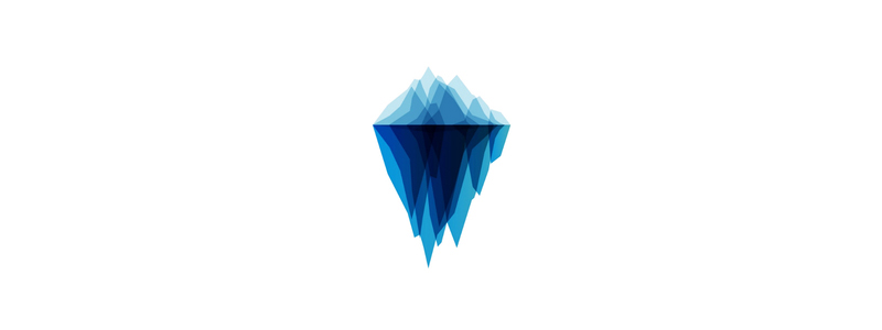 Iceberg tech geometric blends logo design symbol by Alex Tass