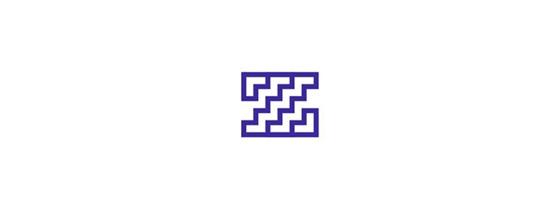 Z letter mark stairs home decor interior logo design by Alex Tass