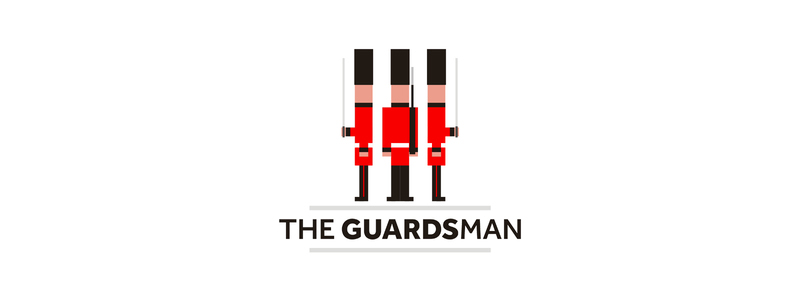Buckingham palace queens guards logo design by Alex Tass