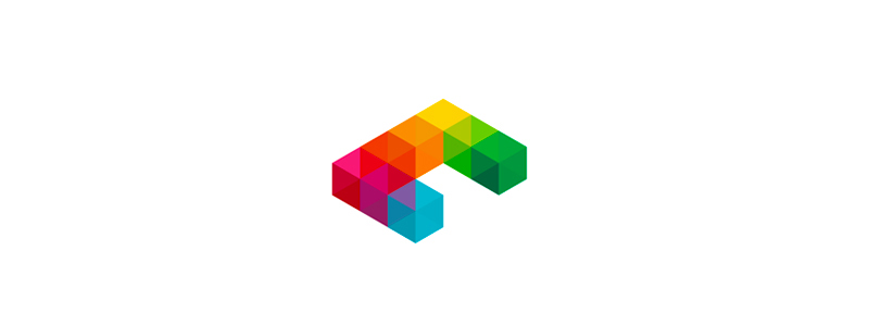 C cubes logo design symbol icon by Alex Tass