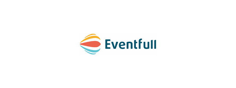 Eventfull e letter events hot air balloon smile logo design by Alex Tass