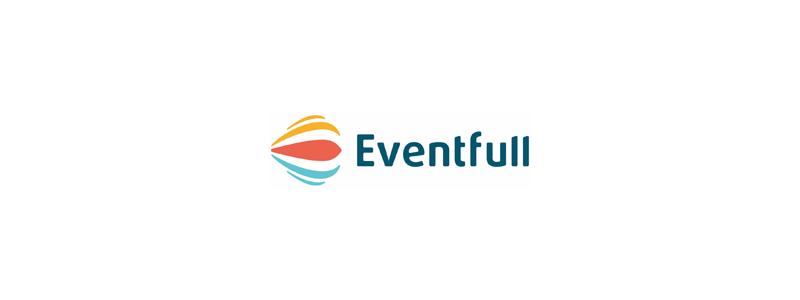 Eventfull e letter events hot air balloon smile logo design by Alex Tass