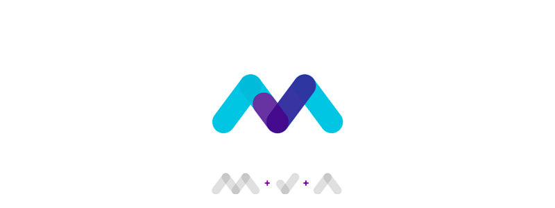 M letter check mark for makeable logo design symbol by Alex Tass