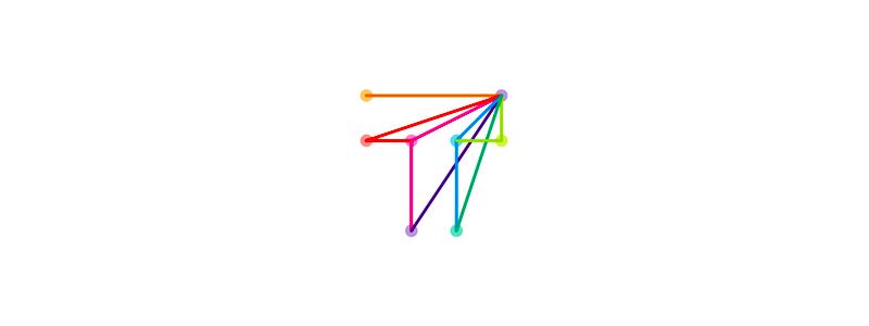 T travel airplane arrow letter mark icon logo design symbol by Alex Tass