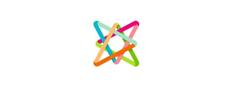 A colorful star letter mark icon logo design symbol by Alex Tass
