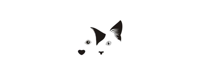 Dog cat vet veterinary hospital logo design symbol by Alex Tass
