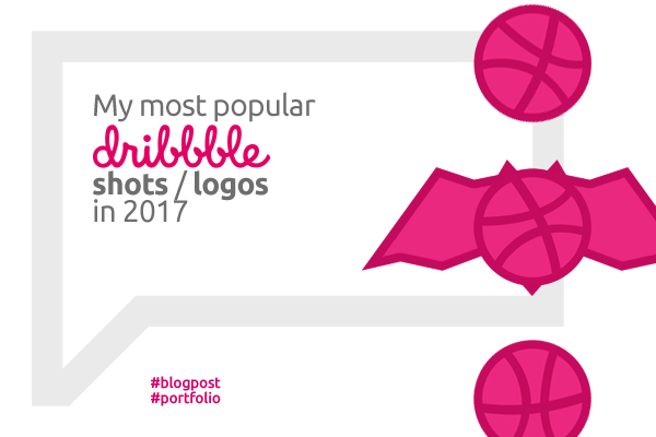 Most popular dribbble logos in 2017 by Alex Tass