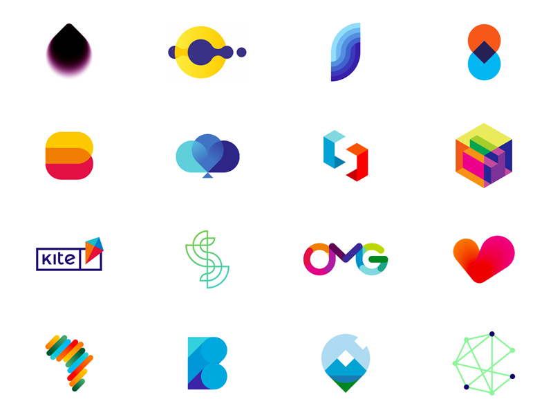 most popular dribbble logos designed in 2017 by alex tass